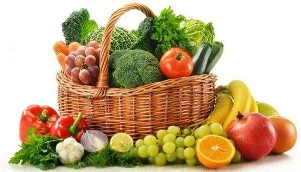 fruta y verdura placas en la garganta